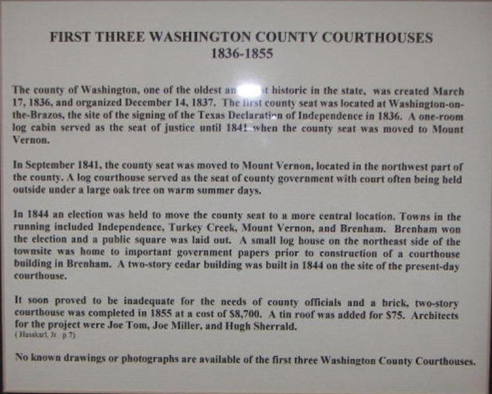 Washington County Courthouses, Texas