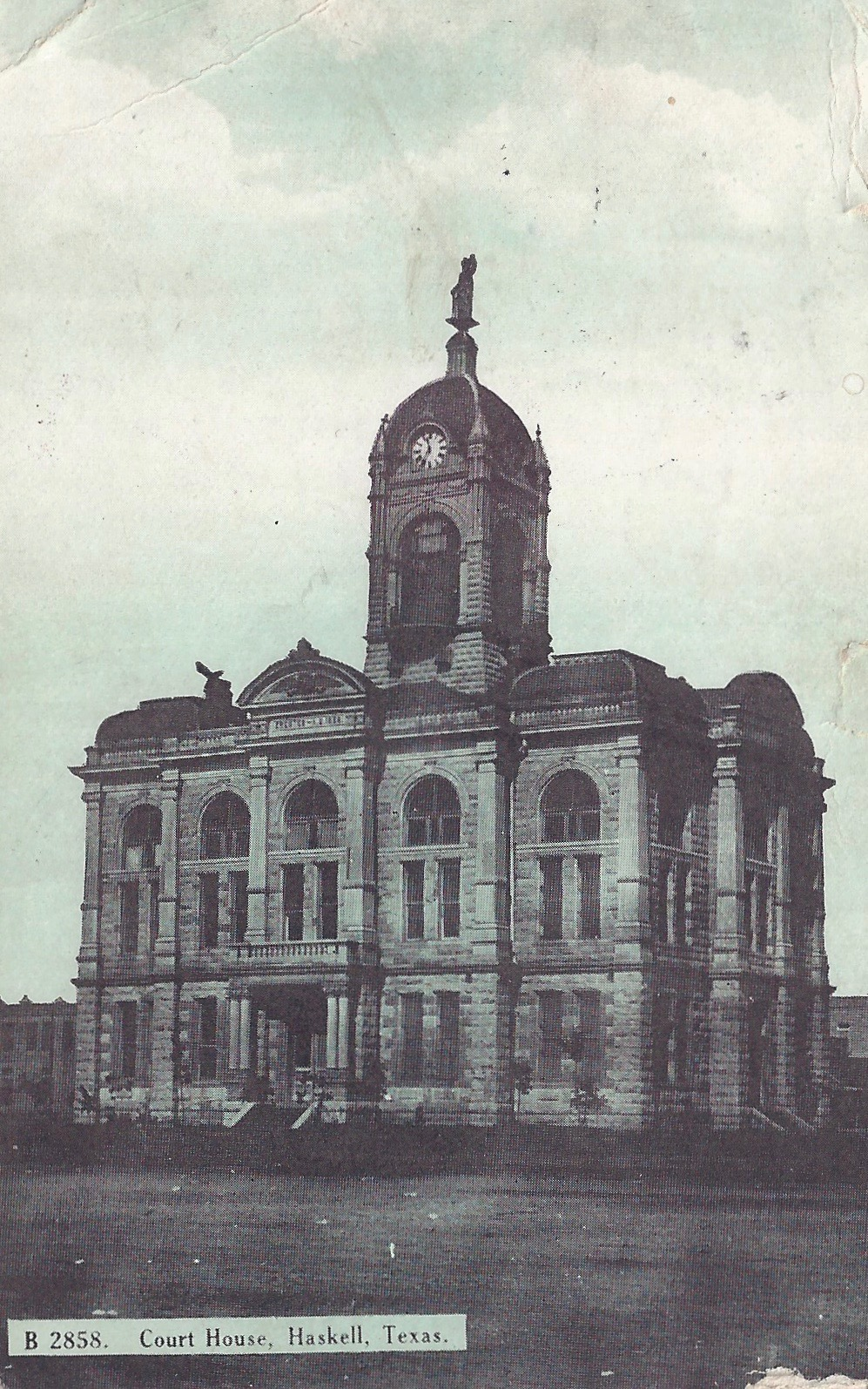 Historic Haskell County Courthouse, Haskell, Texas Postcard