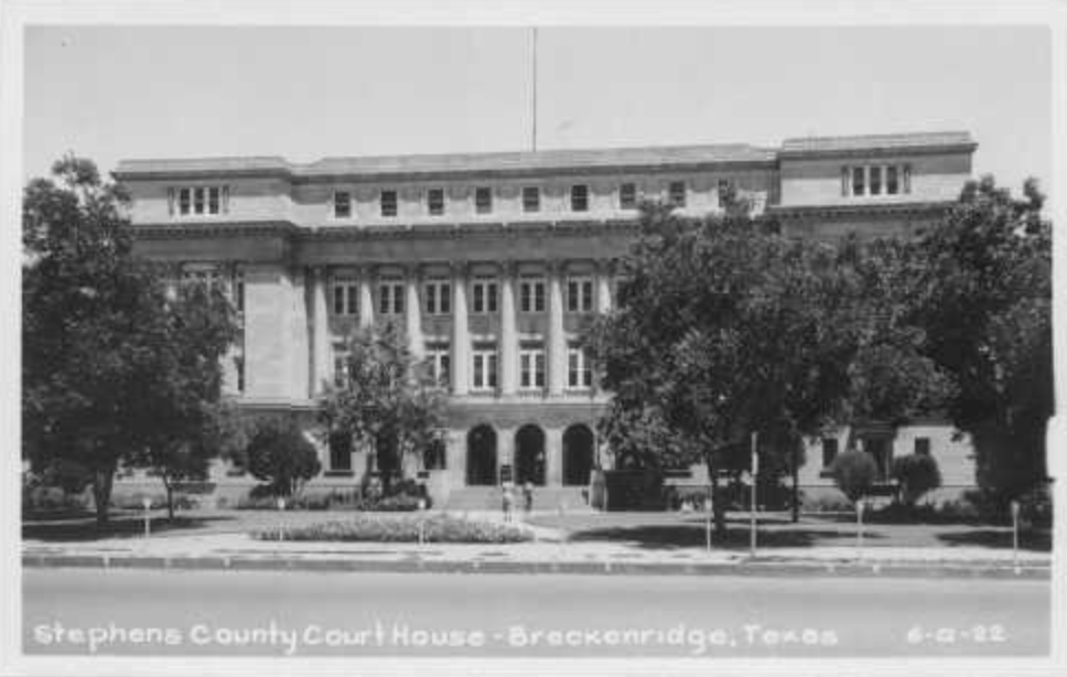Stephens County Courthouse, Breckenridge, Texas