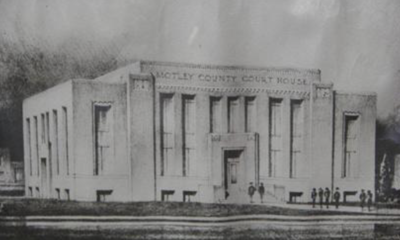 Concept Art for Motley County Courthouse, Matador, Texas