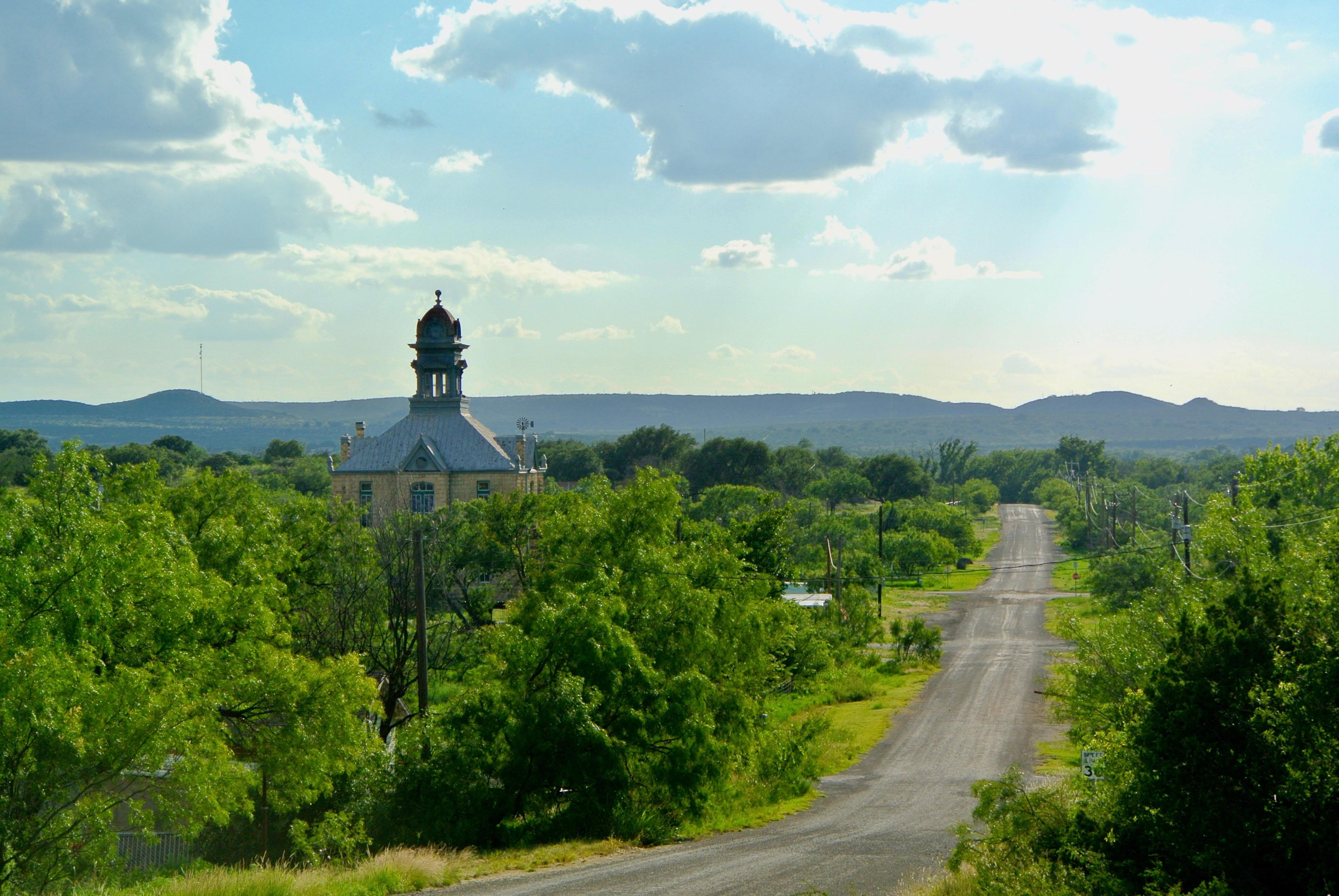 Sherwood Courthouse Irion County Sherwood Texas